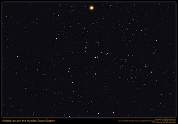 Aldebaran and the Hyades cluster