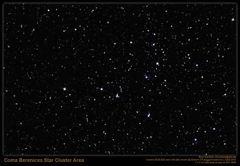 The Coma Bernices star cluster