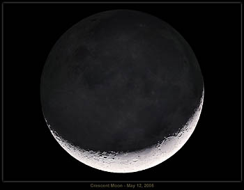 Crescent Moon with Earthshine, May 12,2005