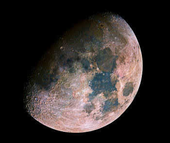 The Moon in Hypersaturated Color
