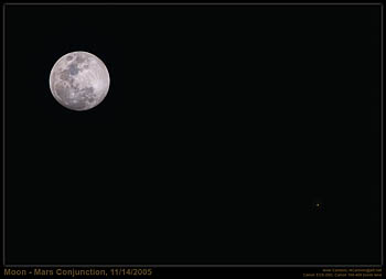 Moon-Mars Conjunction, November 14, 2005