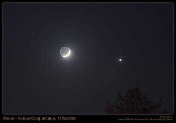 The Moon and Venus, November 5, 2005
