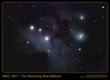 NGC 1977, The 'Running Man' Nebula