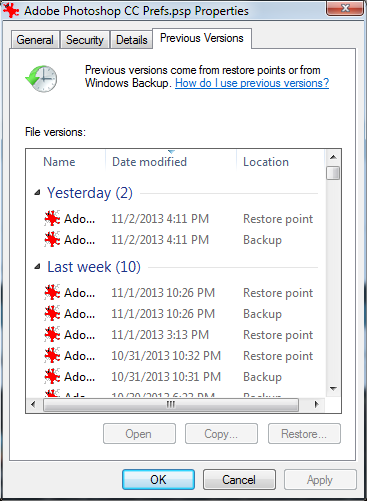 how to restore win 7 to previous date