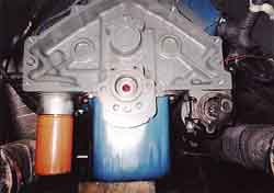 [Engine Block Rear With Crank Flange; Click to See a Larger Image]