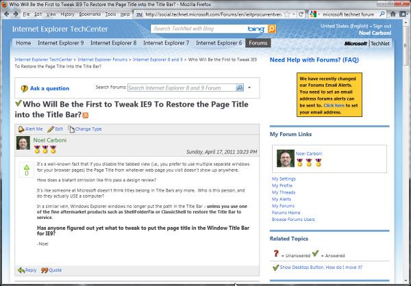 barre google internet explorer 11